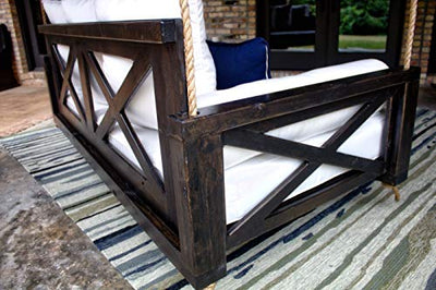 JAMES + JAMES Finley Porch Swing Bed (Swing Size - Twin, Tuscany Finish)