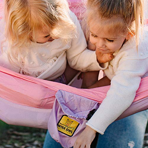 Wise Owl Outfitters Kids Hammock for Camping: Lav/Pink