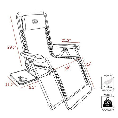 Outdoor Zero Gravity Lounge Folding Chair