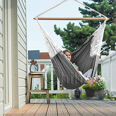 Cotton Hammock Chair for Indoor and Outdoor Space