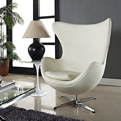 Arne Jacobsen Egg Chair | Italian Leather & Hand Sewn Luxury Chair [5 Colors]