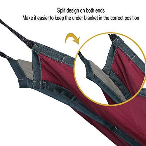 SHINYEVER Unique Underquilt Hammock - Outdoor Sleeping Bag for Camping, Backpacking, Backyard (Red
