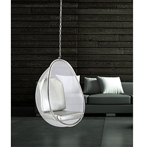 Super Modern Contemporary Accent Hanging Swing Chair Silver Onthecornerstone Fun Painted Chair Ideas Images Onthecornerstoneorg
