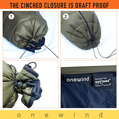 "onewind Topquilt Camping Quilt Hammock Sleeping Un-Bag,28.8oz-Ultralight Nylon Insulation Quilt for Backpack Outdoor Explorer(78"" 56',50-70 Degree)"