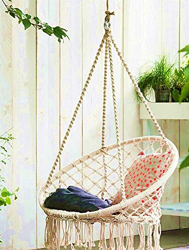 Attirant E EVERKING Hammock Chair Macrame Swing, Hanging Cotton Rope Macrame Hammock  Swing Chair Indoor,