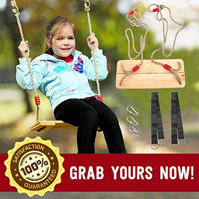 Hanging Wooden Tree Swings for Kids