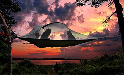 Tentsile Stingray 3-Person All-Season Suspended Camping Tree House Tent, Blue Rainfly