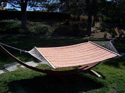 Petra Leisure, 14 Ft. Water Treated Wooden Arc Hammock Stand + Premium Quilted Hammock