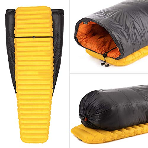 Featherstone Moondance 25 850 Fill Power Down Top Quilt Mummy Sleeping Bag Alternative for Ultralight Backpacking Camping and Thru-Hiking