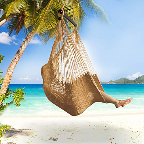 Bathonly Large Caribbean Hammock Hanging Chair with Footrest