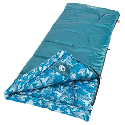 Coleman Kid Camo Youth Sleeping Bag , Blue