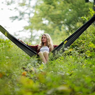 GO Camping Hammock 2.0 with Built-in Mosquito Net: Slate Gray