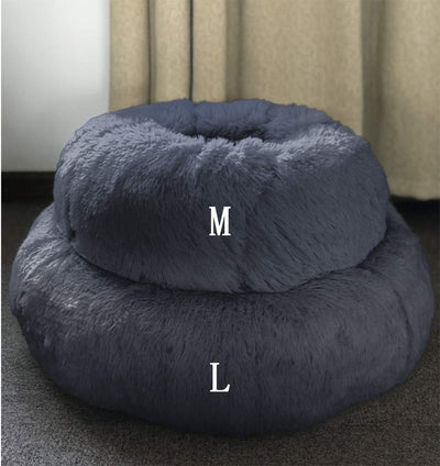 BinetGo Dog Bed Cat Bed Cushion Bed Faux Fur Donut Cuddle