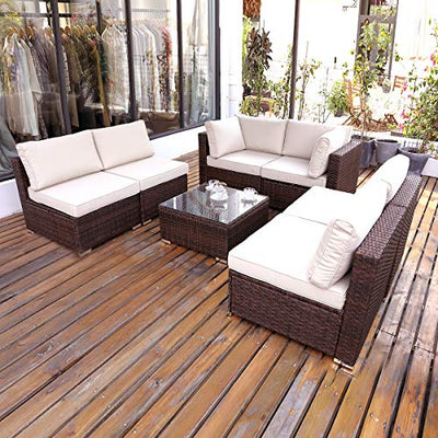 Outdoor Coffee Table Wicker Patio Furniture
