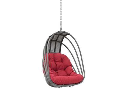 Modern Contemporary Urban Design Outdoor Patio Balcony Swing Chair: Red