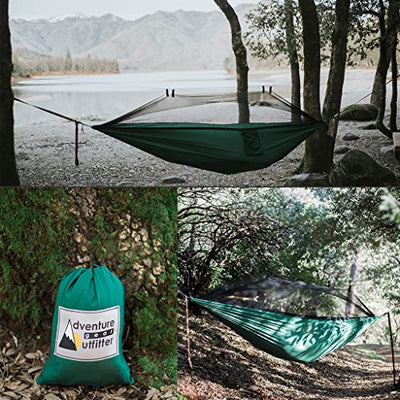 Adventure Gear Outfitter Camping Hammock with Mosquito Net & Tree Straps