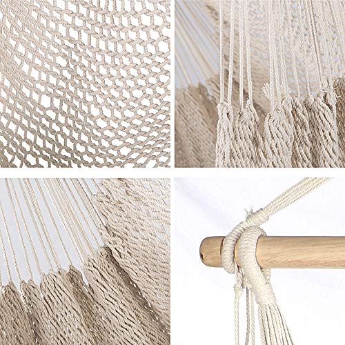Chihee Hammock Chair Super Large Hanging Chair Soft-Spun Cotton Rope Weaving Chair