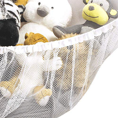 Jumbo Mesh Toy Net - Expands up to 55 Inches Hammock , White