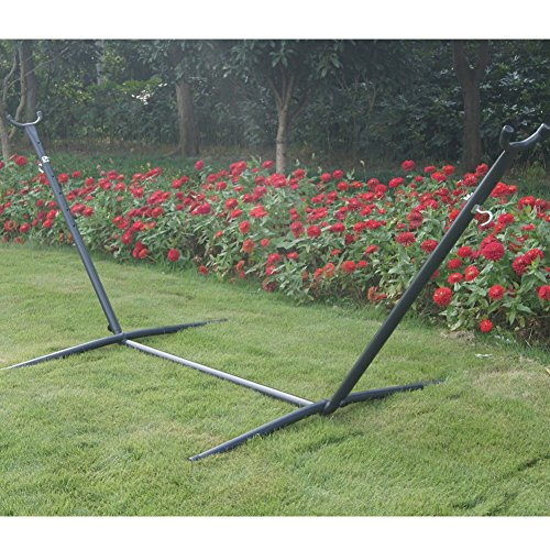 Double Hammock with Space Saving Steel Hammock Stand