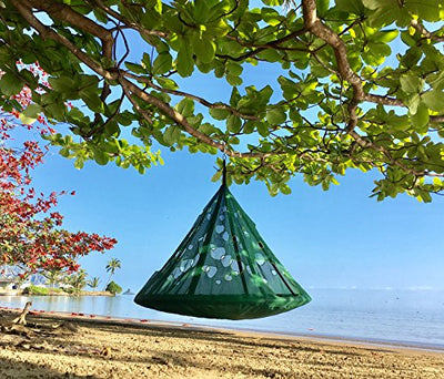 FlowerHouse MoonDrop Hanging Chair: Green
