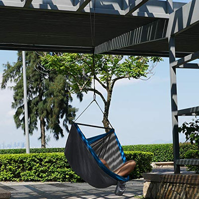 Chillout Pod Travel Hammock Chair: Light Blue & Grey