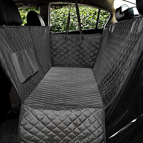 Honest Luxury Quilted Dog Car Seat Covers with Side Flap Pet Backseat Cover