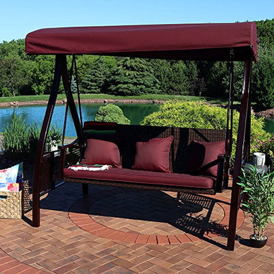 Sunnydaze Deluxe Outdoor Patio Swing - Out of Stock