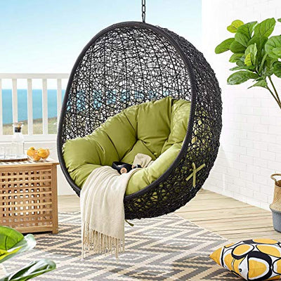 Modway EEI-3636-BLK-PER Encase Swing Outdoor Patio Lounge Chair Without Stand, Black Peridot