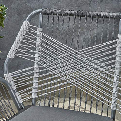 Gloria Outdoor Rope and Steel Club Chairs