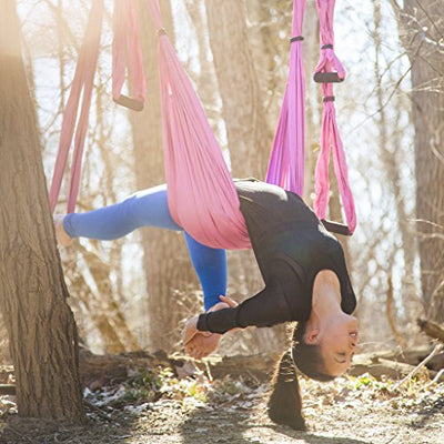 Yoga Swing/Hammock | Antigravity trapeze includes 2 hanging straps and hardware. Perfect for Inversion and Flexibility