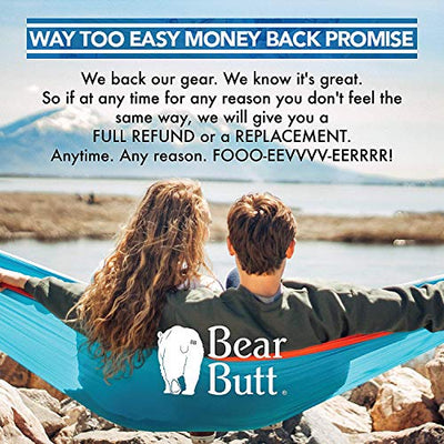 Bear Butt Lightweight Double Camping Parachute Hammock-Large