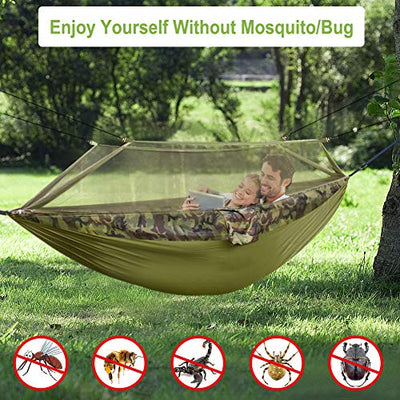 Hieha Double Camping Hammock with Mosquito Net