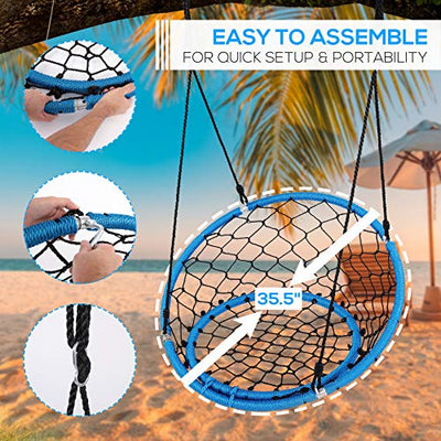 Serenelife Hanging Netted Seat Swing