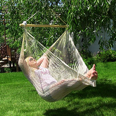Large Hanging Lightweight Cotton Rope Chair Swing
