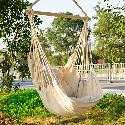 Delicieux CCTRO Hanging Rope Hammock Chair Swing Seat, Large Brazilian Hammock Net  Chair Porch Chair For