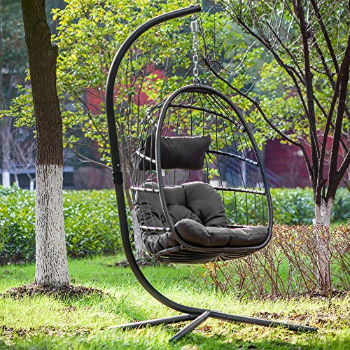 Egg Chair Aluminum Frame Swing Chair with Stand
