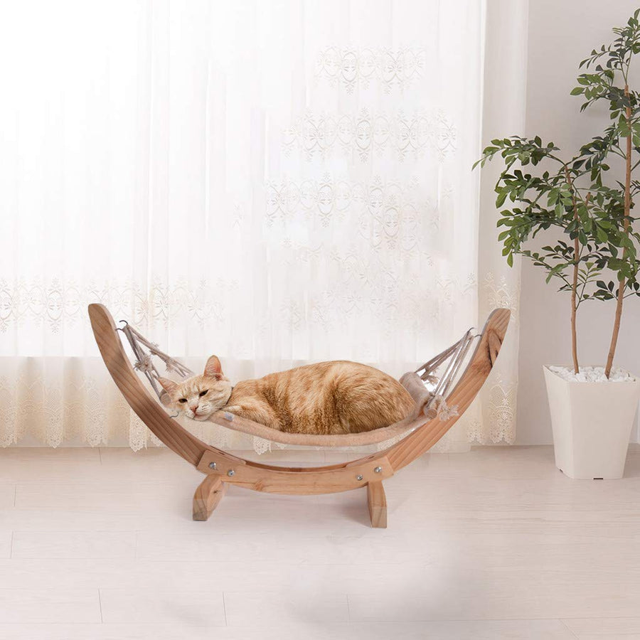 Luxury Cat Hammock Stand Chair with Cozy Cotton Fabric