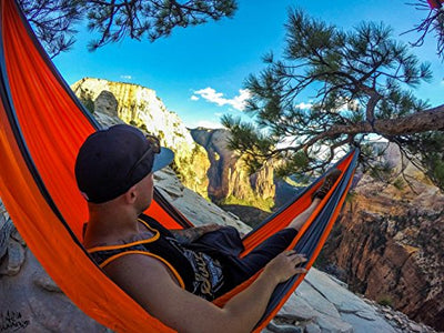 Double Hammock with Carabiners + Rope [21 Color Combinations]