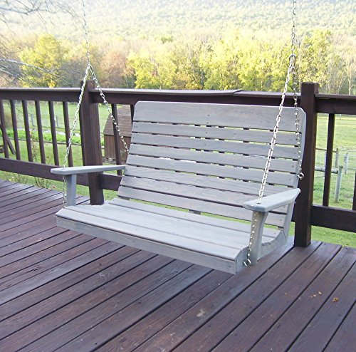 Amish Porch Swing, 4 ft Outdoor Hanging Pergola Swings