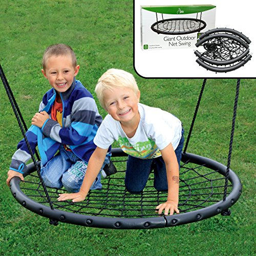 Two Person Outdoor Spider Web Rope Swing Set