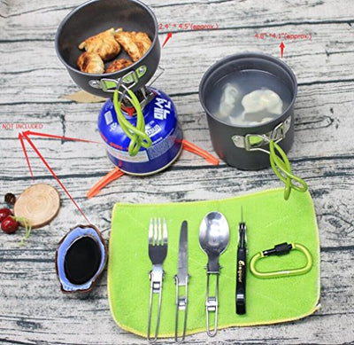 Bisgear 12pcs Camping Cookware and Stove