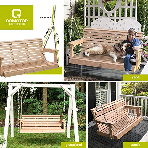Outdoor Patio Swing, Poly Lumber Porch Swing