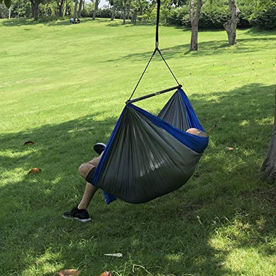 Chillout Pod Travel Hammock Chair: Grey & Blue