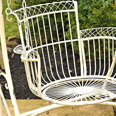 Outdoor Swing Chair: Antique White