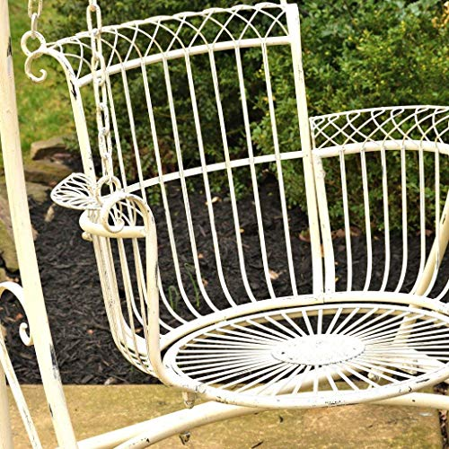 Outdoor Swing Chair: Antique Whiten