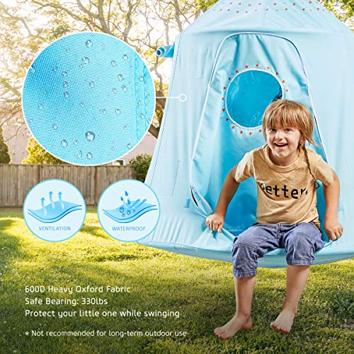 HAPPYPIE Hanging Tree Tent for Kids: Sky Blue