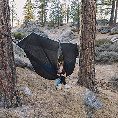 Wise Owl Outfitters Hammock Bug Net: Black & Blue