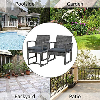 Patiorama 3 Pieces Outdoor Patio Furniture Set