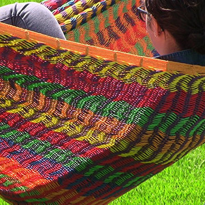 Sunnydaze Mayan Family Hammock Hand-Woven XXL Thick Cord, Heavy Duty 880-Pound Capacity, Multi-Color