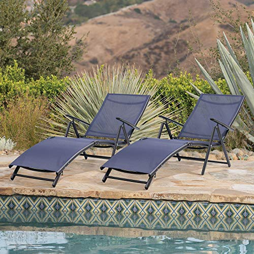 Outdoor Chaise Lounge Chairs Patio Furniture Adjustable Folding Recliner Chair